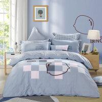 水星家纺儿童床套四件套卡通风纯棉床上用品摩卡印象