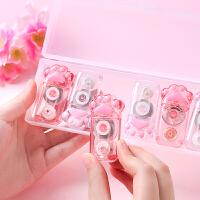 韩版创意可爱猫爪修正带盒装萌猫咪少女心便携迷你卡通改正带