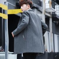 大衣青年中长款休闲加厚毛呢外套潮流秋冬季男士风衣韩版帅气呢子