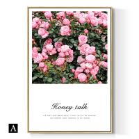 花卉字母北欧风粉色系装饰画客厅餐厅卧室床头画女生房间挂画insSN6016 72*106 单幅价格