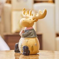 现代简约麋鹿摆件创意实用多功能音响树脂客厅桌面家居装饰品