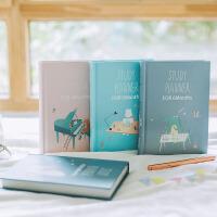 创意精装学习计划本学生笔记本 彩页记事本6个月规划学习手册