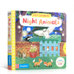 英文原版绘本 小小探索家系列 First Explorers Night Animals 幼儿知识动物探索启蒙机关操作