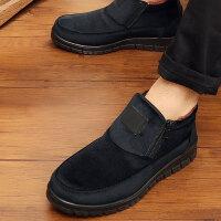 老北京布鞋男款棉鞋冬季高帮加绒保暖男鞋防滑加厚中老年爸爸棉靴