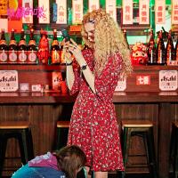 【秒杀价:141】【再享满499减50券】妖精的口袋少女心仙女裙新款甜美雪纺裙子碎花连衣裙女