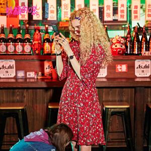 【秒杀价:157】妖精的口袋少女心仙女裙新款甜美雪纺裙子碎花连衣裙女