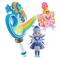 巴啦啦小魔仙 玩具魔法套装吸色手镯调色盘魔法棒公仔套装 魔仙同款(5寸升级版人偶+吸色手镯+调色盘