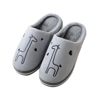 棉拖鞋女冬情侣家用男居家鞋室内包跟月子防滑厚底可爱拖鞋