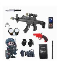 儿童电动玩具枪套装小特警全套cos套装备小警察装备男孩生日礼物