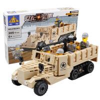 开智儿童玩具益智拼装拼插积木玩具组装军事模型男孩玩具KY82003
