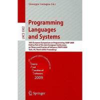 【预订】Programming Languages and Systems: 18th European