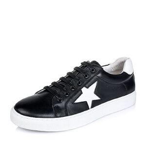 Belle/百丽秋专柜同款牛皮男休闲鞋4NM01CM6小白鞋运动鞋女小白鞋女