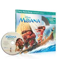 英文原版书绘本 海洋奇缘英文原版 Moana 迪士尼 独立阅读系列 moana Read-along(书+CD) 3-