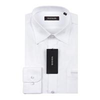 Youngor/雅戈尔男士商务正装秋季新品免烫白色长袖衬衫 V6601