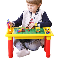 儿童积木桌兼容小颗粒积木底板塑料桌子6周岁拼装游戏收纳