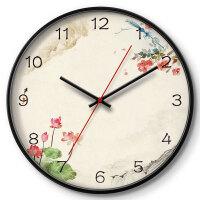 挂钟客厅创意现代时钟表挂表卧室静音个性壁钟石英钟细边框