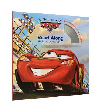 英文原版 迪士尼 Cars Read-Along Storybook and CD 汽车总动员