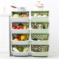 果蔬收纳筐厨房置物架落地多层厨房用品用具小百货储物架蔬菜架子