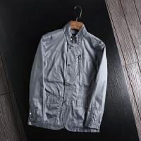 一线撤柜单非剪标立领商务休闲男式通勤夹克衫工装外套好品质上衣