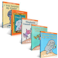 小猪小象系列5本英文原版绘本套装 Mo Willems 情商教育启蒙绘本 获得苏斯博士奖金奖 Listen to My