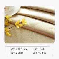 欧式窗帘成品客厅卧室阳台打孔挂钩绣花纱帘布料遮光
