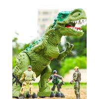 霸王龙会走儿童套装男孩 大号恐龙玩具电动下蛋仿真动物遥控