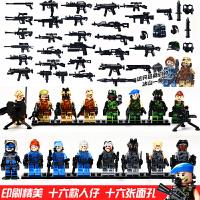20180602151611676兼容乐高积木军事人仔拼装儿童玩具男孩5-6-7-8岁以上人偶悍马车