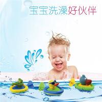 宝宝玩水戏水洗澡玩具拉线婴儿童玩具小黄鸭洗澡水陆两栖1-2-3岁