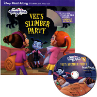 英文原版绘本 Vampirina Vee's Slumber Party 附CD 迪士尼故事书 Read-Along