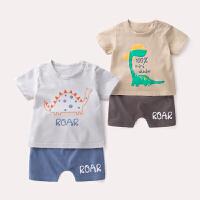 新生儿套装纯棉夏装 宝宝外出服0-4岁 婴儿两件套短袖衣服裤子