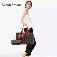 Clous Krause2019新款CK狗牙包女包大容量手提手拎托特包子母包购物袋(随机赠小马挂饰)