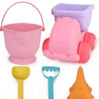 儿童沙滩玩具车大号铲子桶工具套装宝宝男女孩戏水决明子挖沙子玩