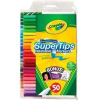 美国Crayola绘儿乐 50色可水洗细杆马克笔/水彩笔58-5050