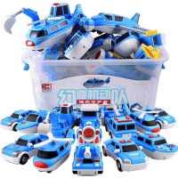 百变海陆空磁力拼装玩具车儿童男孩宝1一2岁小朋友磁性积木益智类