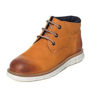 Teenmix/天美意专柜同款牛皮/织物男休闲靴61H43DD6