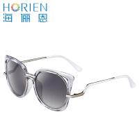 海俪恩太阳镜女 时尚猫耳太阳镜 2016新款 时尚偏光墨镜N6311