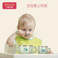 婴儿辅食碗勺不锈钢吸盘碗 婴幼儿注水保温碗儿童餐具套装宝宝