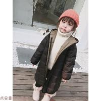 冬季女童冬装2018新款韩版中长款轻薄羽绒服宝宝加厚外套儿童秋冬新款