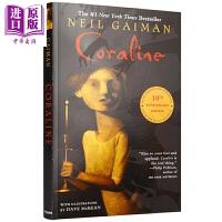 【中商原版】鬼妈妈 英文原版Coraline 尼尔・盖曼 获奖小说8-12岁