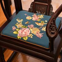 刺绣沙发官椅座垫中国风四季古典圆垫