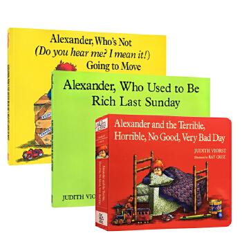 亚历山大和糟糕的一天 英文原版进口绘本3册 Alexander and the Terrible, Horrible, No Good, Very Bad Day 汪培珽第五阶段绘本