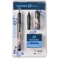 德国进口施耐德(Schneider)钢笔Lady花仙款钢笔 走珠笔套装(F尖钢笔+6个墨胆+走珠笔头)签字笔水笔经典男