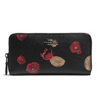 【当当自营】蔻驰(COACH)时尚女士花卉图案拉链手拿包钱包卡包 F55950