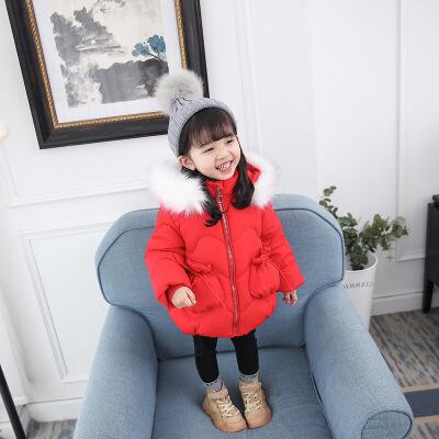 女童棉衣2018新款韩版洋气冬装小童中长款加厚棉袄羽绒棉外套毛领 发货周期:一般在付款后2-90天左右发货,具体发货时间请以与客服协商的时间为准