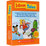 Scholastic Idiom Tales 3-8岁趣味认知故事集 惯用语法习语大全8册盒装 附家长手册 儿童英语益