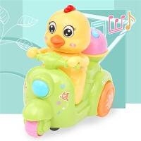 6-12个月儿童电动万向带音乐爬行车玩具灯光宝宝鸡仔