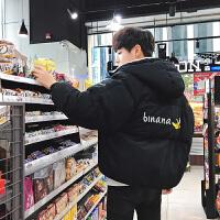 男士棉衣潮流冬季短款学生韩版加绒加厚面包服冬装棉袄外套男