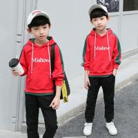 童装男童卫衣套装秋装款中大童男孩春秋儿童两件套潮装