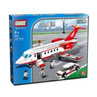乐高积木飞机航空模型大型客机拼装玩具男孩益智礼物机场儿童拼装