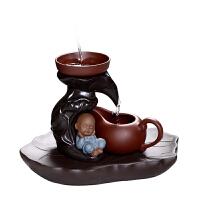 创意小和尚功夫茶具配件瓷沙弥泡茶过滤器网架